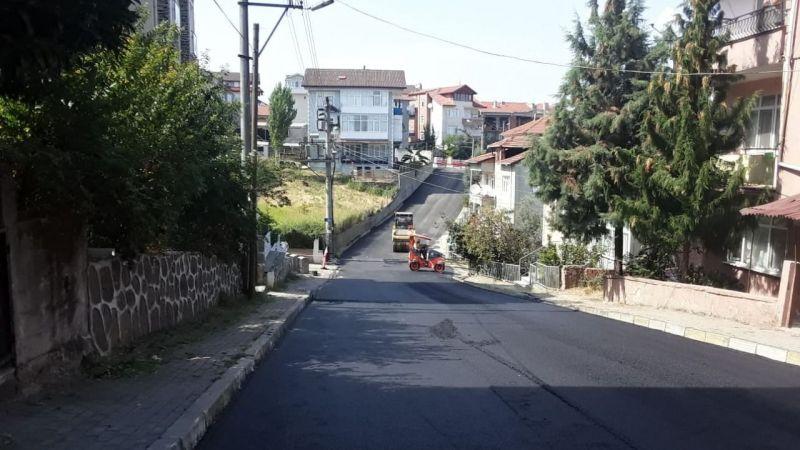 Süleyman Ateş Caddesi'de asfalt serim çalışması tamamlandı
