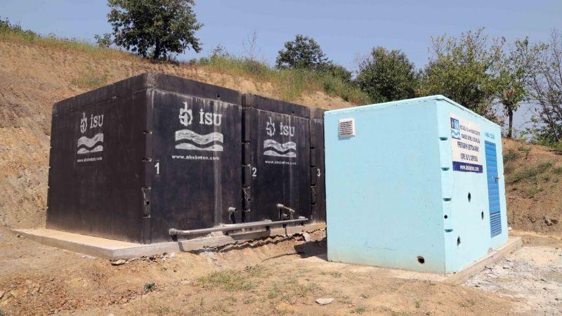 Gölcük'te su deposu inşaatları devam ediyor