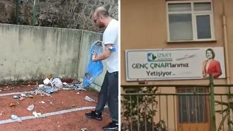 """İzmit'te temizlik aksayınca çöpleri muhtar topladı: """"Gençler çöp içinde yetişiyor"""""""