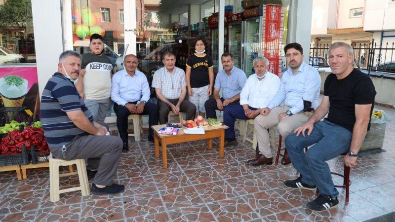 """Başkan Söğüt, İlyas Şeker ile bir araya geldi:  """"AK Parti bir parti değil, partiler ötesidir"""""""