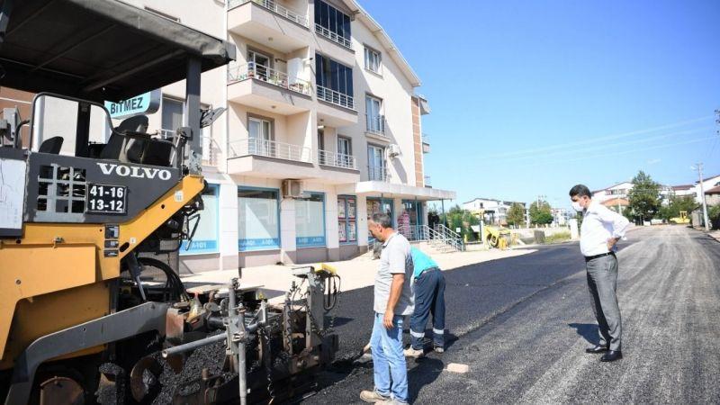Uzunçiftlik'te 1200 ton asfalt serimi yapıldı