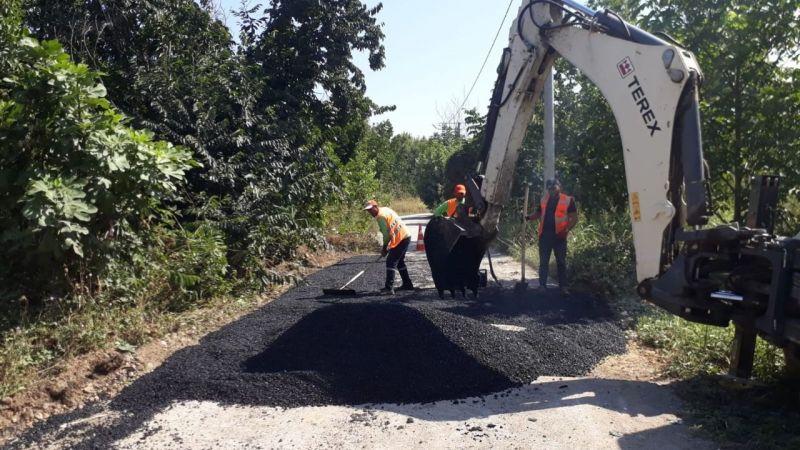 Gölcük'te asfalt çalışmaları devam ediyor