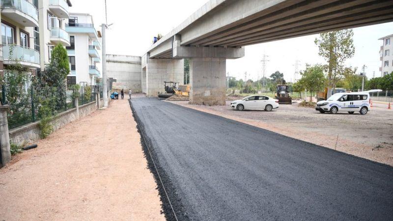 Ataevler köprü kavşağına 750 ton sıcak asfalt