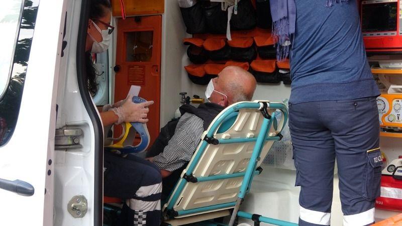 Kamyonetle çarpışan motosikletli yaralandı