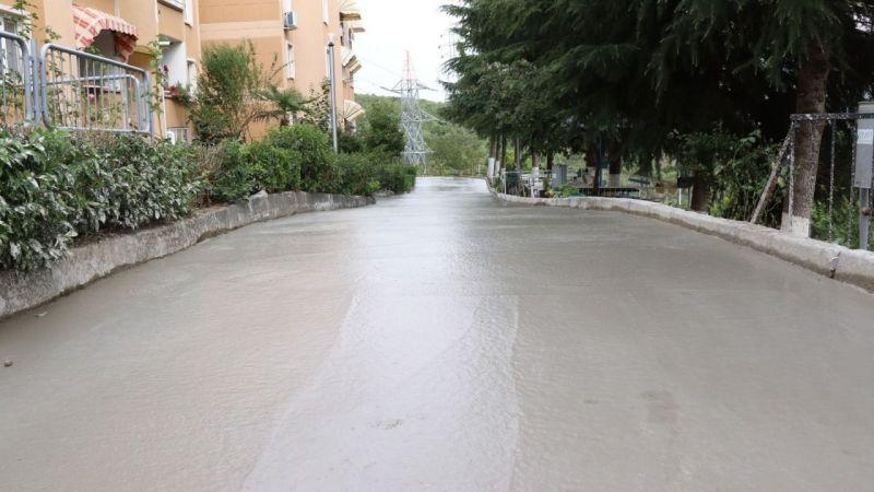 Fevzi Çakmak'a yeni beton yol