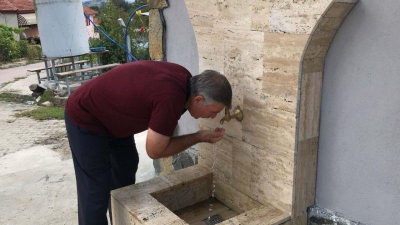 Çevre illerden içmeye geliyorlar: Dalca'nın lezzetli suyuna yeni çeşme