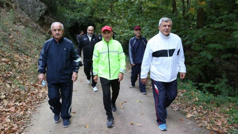 Çınarlıdere'de hareketli yürüyüş