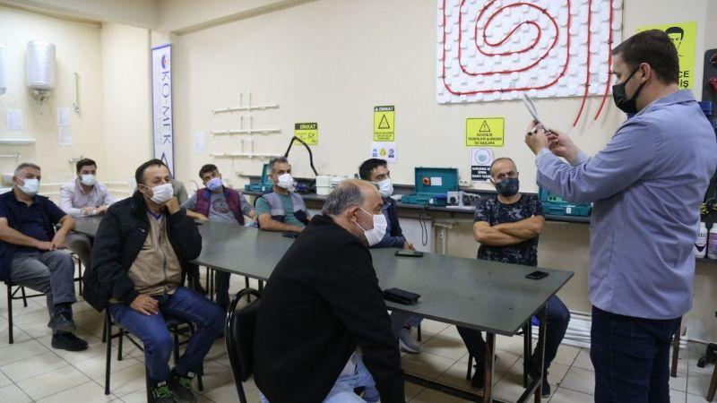 KO-MEK'ten İSU personeline sıhhi tesisat eğitimi