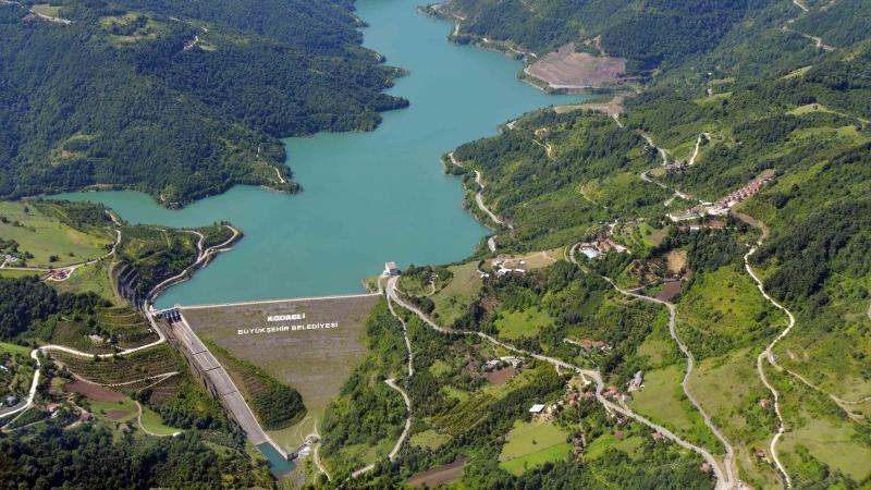 """Yuvacık Barajı'nda seviye düşünce Büyükşehir uyardı: """"Suyu israf etmeyelim"""""""