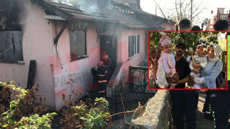 İki kardeş yangında çöken çatının altında kalarak can verdi..!
