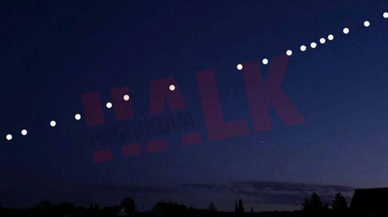 Gökyüzünde merak uyandıran görüntü! Görenler telefona sarıldı...
