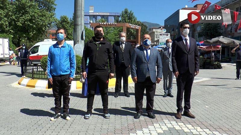 Pamukova'da 19 Mayıs törenle kutlandı