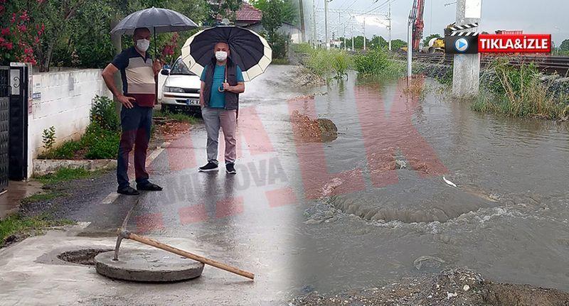 Her yağmurda evlerini kanalizasyon suyu basmasın diye nöbet bekliyorlar..!