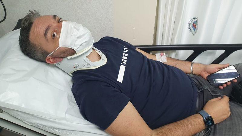 Gazeteci Hakan Turhan trafik kazası geçirdi!