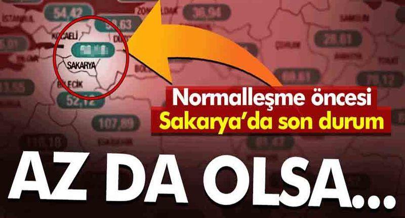 Sakarya'da vaka sayıları geçen haftaya göre azaldı!