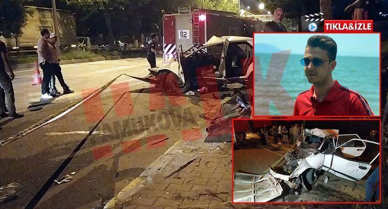 Pamukova'da yeni aldıkları otomobil ile ağaca çarptılar !1 ölü 1 yaralı