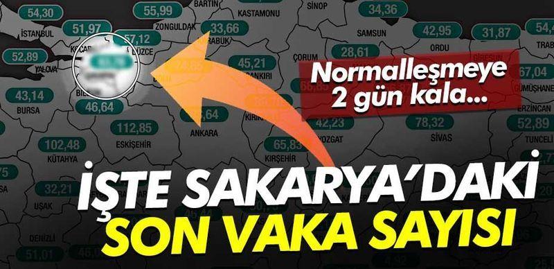 Normalleşmeye 2 gün kala Sakarya'daki vaka sayısı belli oldu!