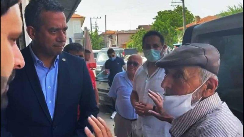 """Geyve'de CHP li Milletvekiline vatandaş böyle dert yandı """"Köylü bitti.."""""""