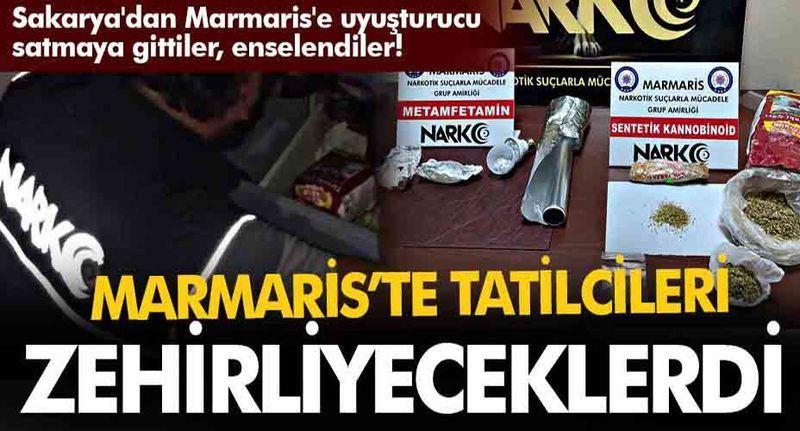 Sakarya'dan Marmaris'e uyuşturucu satmaya gittiler, enselendiler!