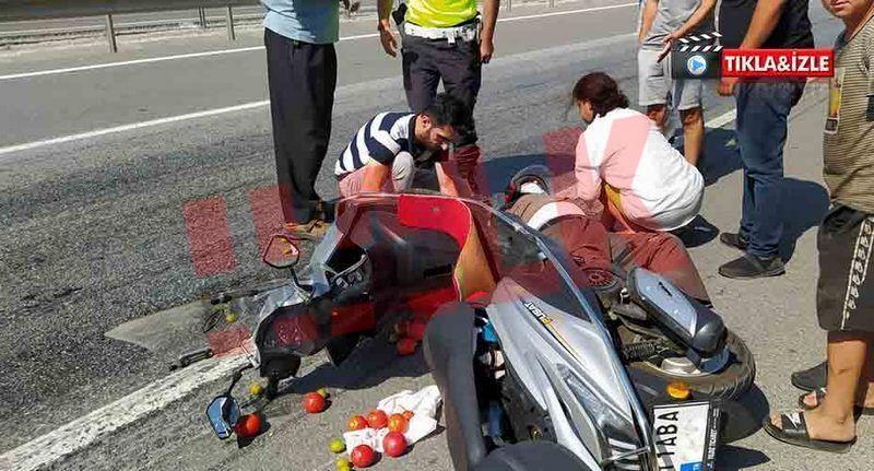 Bozuk yol canından ediyordu! Motosiklet kontrolden çıktı 1 yaralı