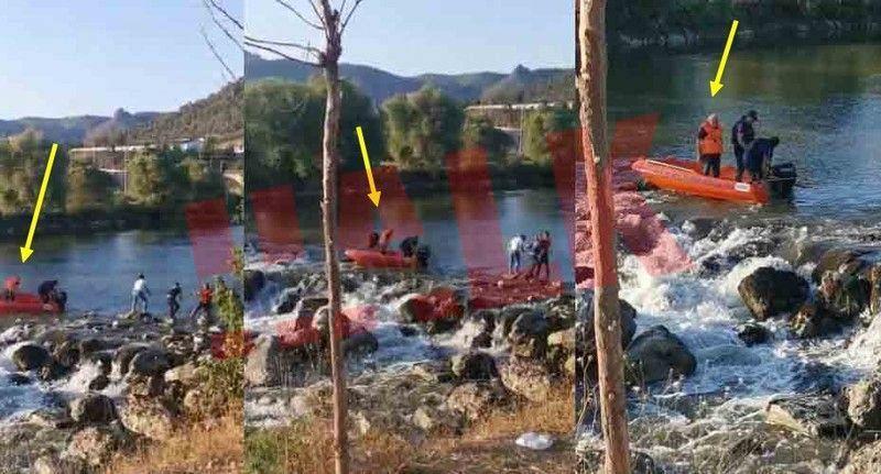Sakarya Nehrindeki arama çalışmalarında belediye başkanın bindiği bot akıntıya kapıldı