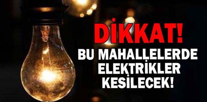 Pamukova'da bugün 2 Mahallede elektrik kesintisi var!