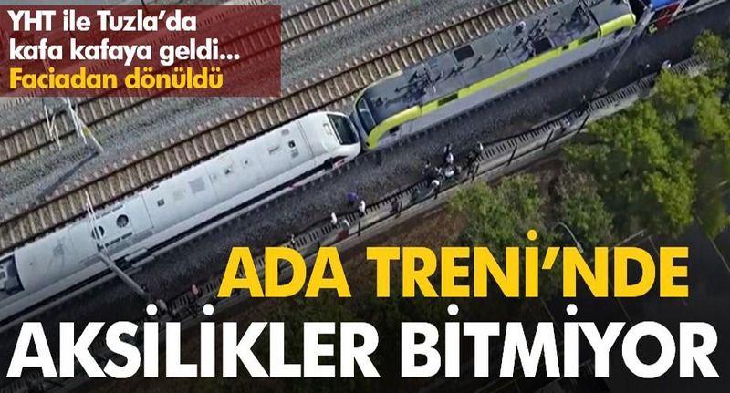 Ada Treni Tuzla'da kaza yaptı! YHT ile kafa kafaya geldi...