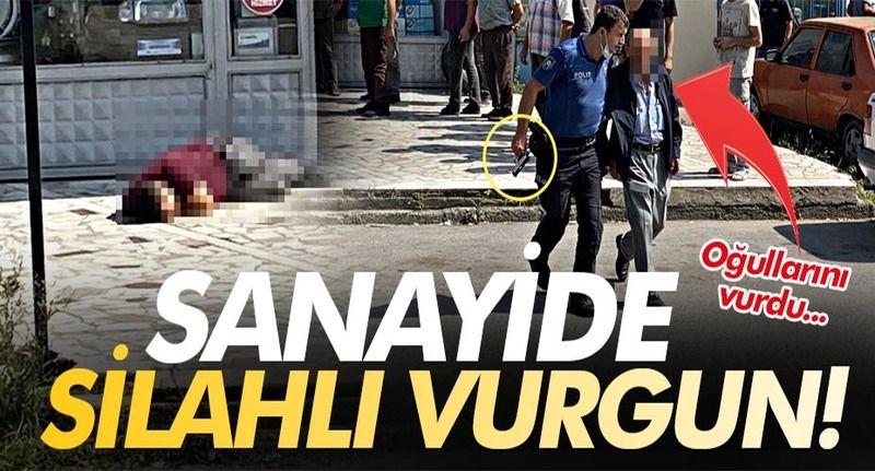Sakarya'da baba iki oğlunu silahla vurdu!