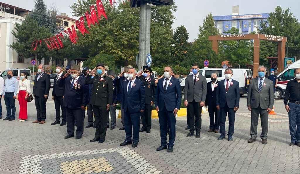 Şehit ve Gaziler Pamukova'da törenle anıldı...