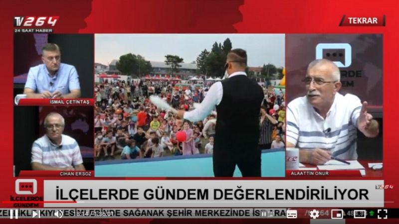 İlçelerde Gündem bugün canlı yayınla 15.00'te Tv264'te