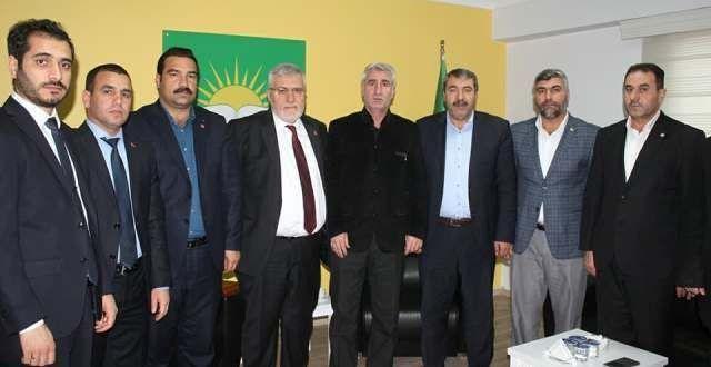 Saadet Partisi'nden HÜDA PAR Şanlıurfa İl Başkanlığına ziyaret