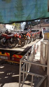 Akçakale'de çalıntı motosikletler için düğmeye basıldı