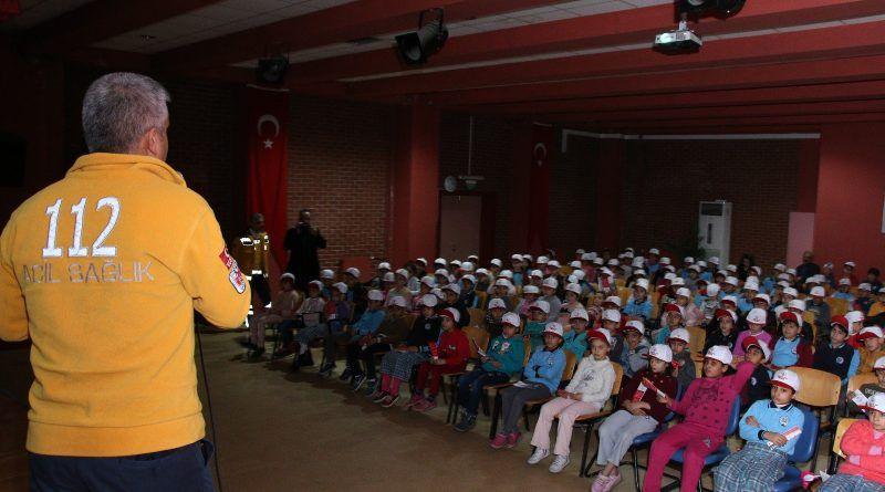 Miniklere 112 eğitim projesi devam ediyor