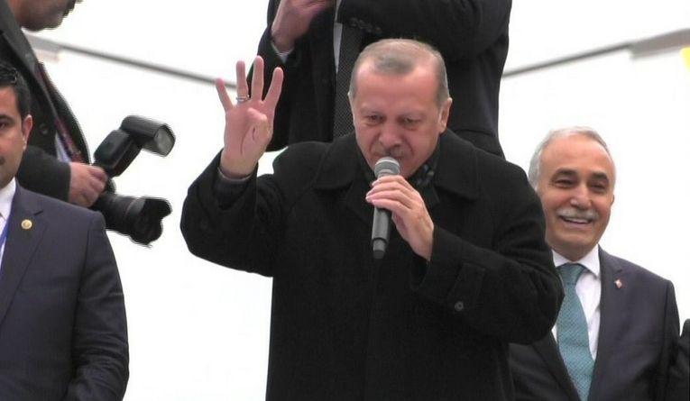 """Erdoğan Urfa'dan seslendi: """"Afrin adım adım düşüyor"""""""