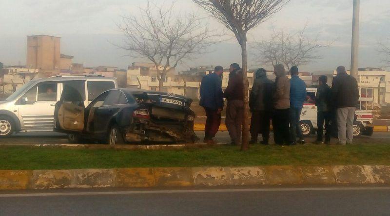 Şanlıurfa'da Maddi Hasarlı Trafik Kazası
