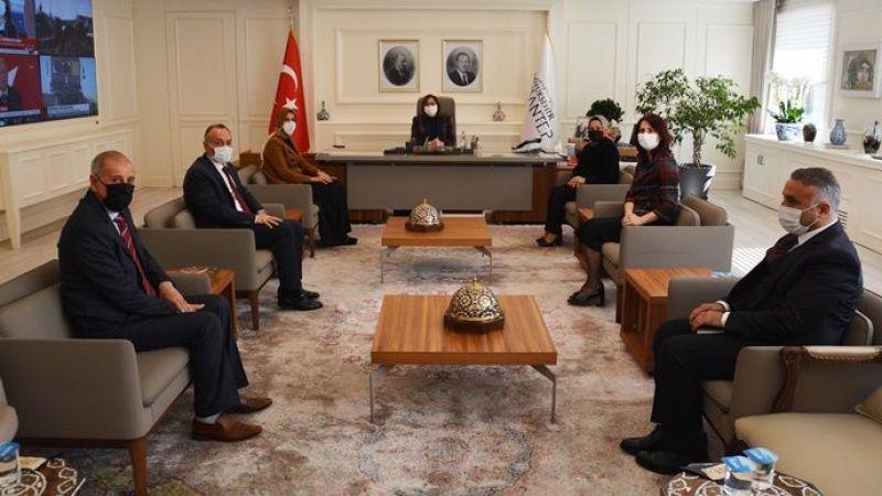 Başkan Ayşe Çakmak'tan Başkan Fatma Şahin'e iade-i ziyaret