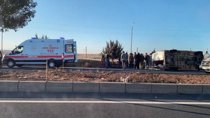 Urfa'da tarım işçileri kaza yaptı! 12 kişi yaralandı