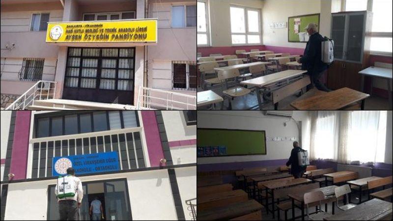 Viranşehir'de LGS Öncesi Okullar Dezenfekte Edildi