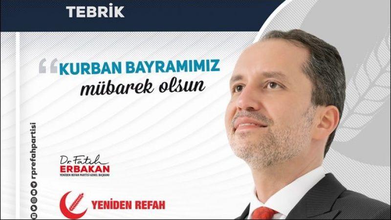 Fatih Erbakan: kurban bayramımız mübarek olsun