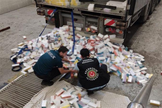 Sarp'ta, 32 bin 500 paket e-sigara tütünü ele geçirildi