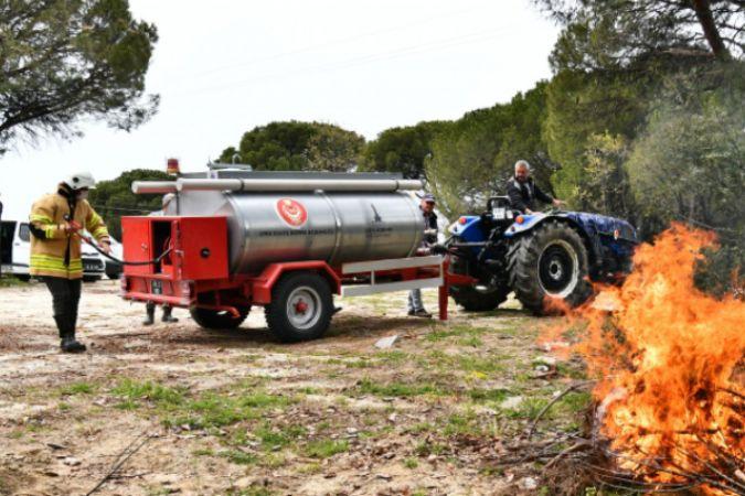 İzmir Büyükşehir Belediyesi 50 yangın söndürme tankeri daha dağıtacak