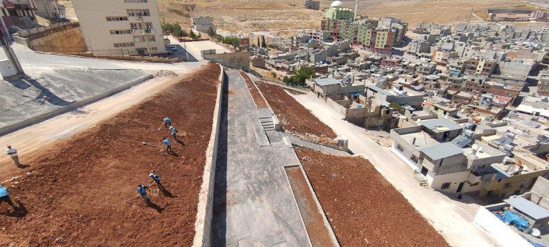 Eyyübiye Belediyesi İlçeye Yeni Yeşil Alanlar Kazandırmaya Devam Ediyor