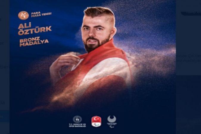 Ali Öztürk, 3. oldu
