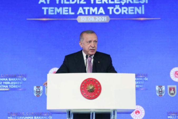 Cumhurbaşkanı Erdoğan, Milli Savunma Bakanlığı Ay Yıldız Projesi Temel Atma Töreni'nde konuştu