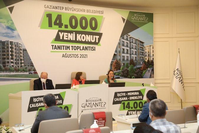 """Gaziantep Büyükşehir """"14 Bin Konut Projesi"""" için ön talep için başvuruları başlıyor"""