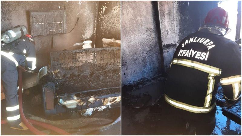 Haliliye'de Elektrik kontağı yangına neden oldu: İtfaiye müdahale etti