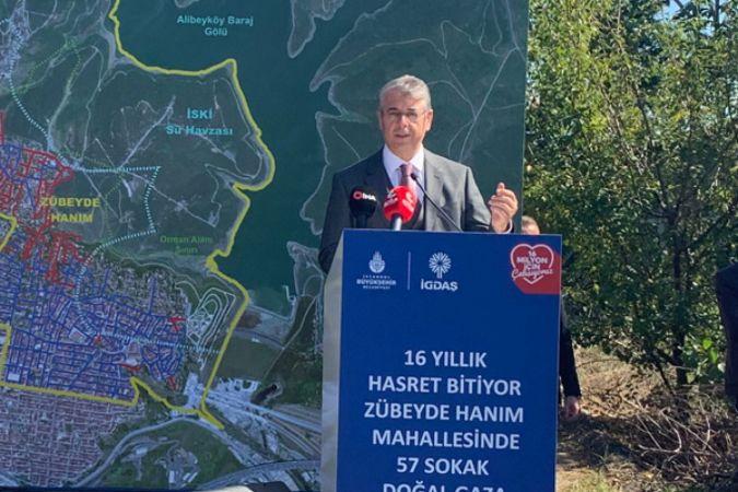 'Sultangazi Zübeyde Hanım Mahallesi Doğal Gaz Hat Yatırımı Töreni' yapıldı