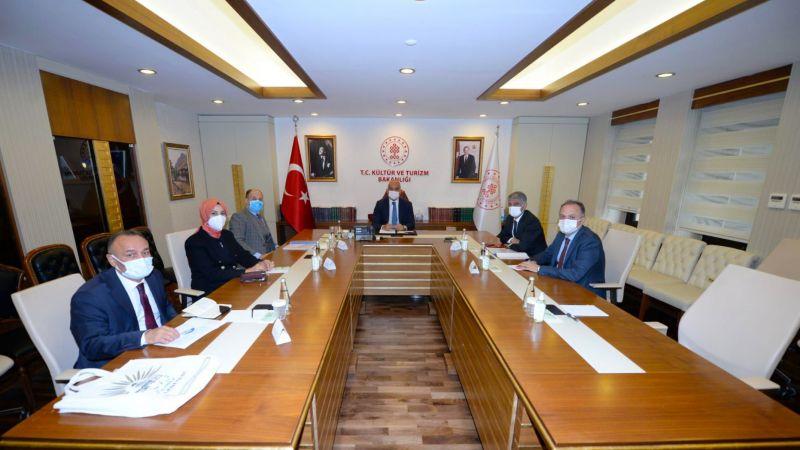 Başkan Ayşe Çakmak'ın Ankara'da  Kültür ve Türizm Bakanı Ersoy'la Görüştü