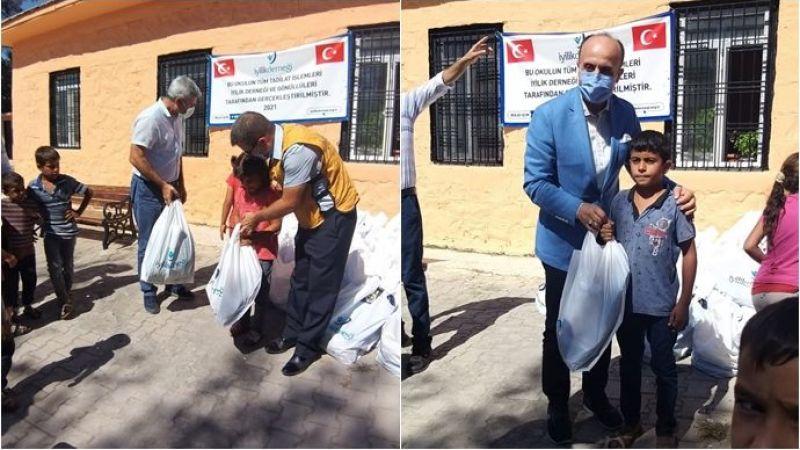 İyilik Derneği Urfa'da 2 Okulu Yeniledi