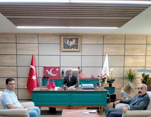 Şanlıurfa CHP'den , Milli Eğitim Müdürü Fevzi Kurt'a Ziyaret